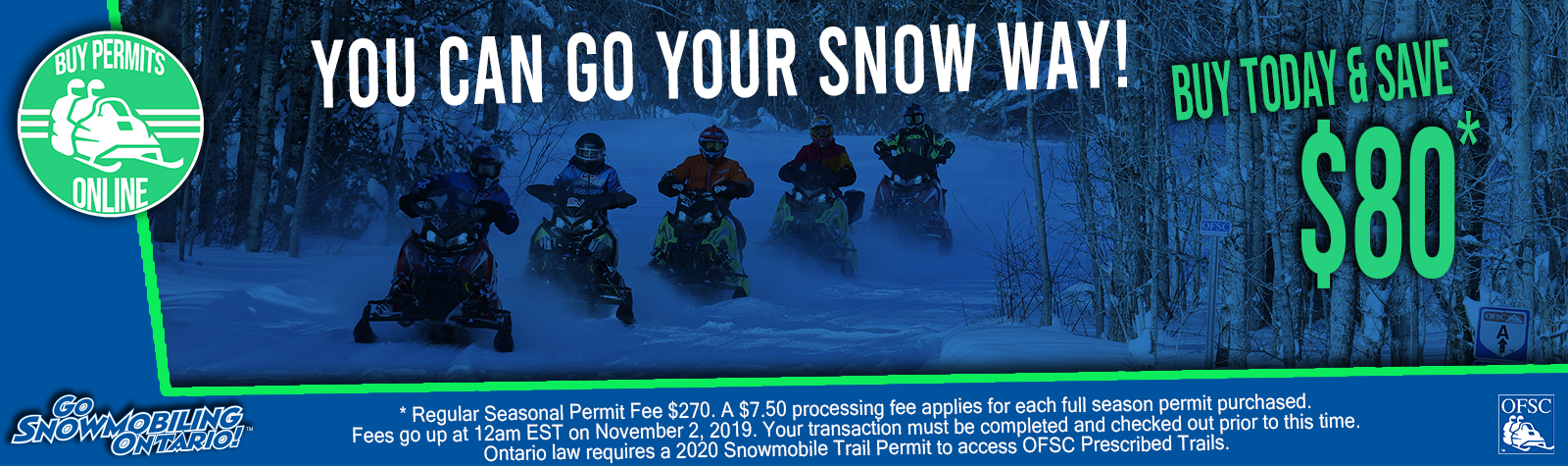 Ontario Snowmobile Trail Permits
